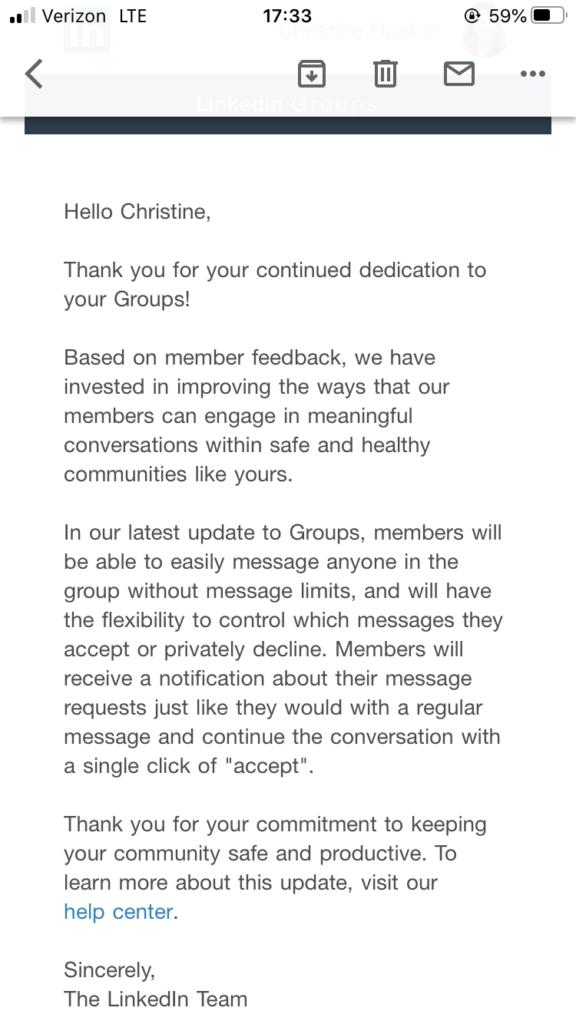 LinkedIn Group Messaging